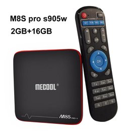 M8s Android Tv Boxes Australia - MECOOL M8S PRO 2GB 16GB Android 7.1 TV BOX Amlogic S905W Quad Core Set Top Box 4K Wifi HDMI 1080P