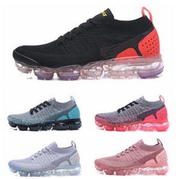 finest selection fed61 f4b4e Air 2.0 Zapatillas de running para hombre Zapatillas de deporte con  amortiguador de aire para mujer Zapatillas V2 baratas Deportes Vapor  deportivo Negro ...
