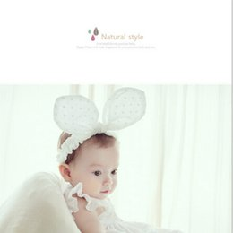 Ear Cotton Australia - 2018 New ON SALE 1PCS Cute Headband Cotton Big Rabbit Ears Bowknot Hairbands Kids Girls Headwear Hair Accessories