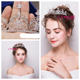 gold pearl crown 2019 - New high-end micro inlay full zircon crown   bridal tiara crown   stage catwalk wedding party wedding accessories shop t