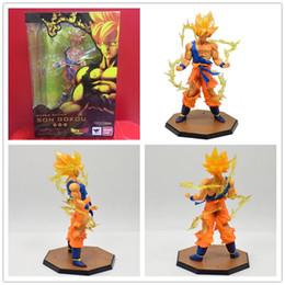 Goku Hot Toy NZ - Japan Hot Sales Anime 18CM dragon ball z Son Goku action figures Super Saiyan PVC Collectible Toy model for Birthday Gift