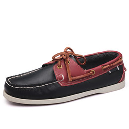 Mens Casual Genuine Leather Shoes Autumn Men Flat Walking Loafers 2018  Italy Man Luxury Slip on Boat Shoes Big Size Dropshipping add36a8b85d2