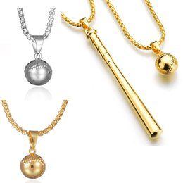 Gold baseball pendants online shopping gold baseball pendants for sale high quality gold silver color hiphop baseball pendant necklace hip hop long chains necklaces for men punk jewelry birthday gifts d801s aloadofball Gallery