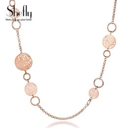 Discount necklaces pendants statement brand jewelry - Shefly Alloy Rose Gold Color Brand Long Necklace Statement Jewelry Gifts For Women 2017 Fashion Tree Of Life Pendant XL0