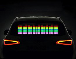 Car Sound Music Equalizer Australia - 2018 New Car Sticker Music Rhythm LED Flash Light Lamp Sound Activated Equalizer Car Styling Accessories For Focus Passat