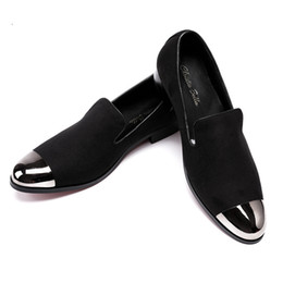 Christia Bella British Style Men Dress Shoes Men Velvet Loafers Party Shoes  Smoking Slippers Driving moccasins Plus Size 38-47 0cb3863ba1f4