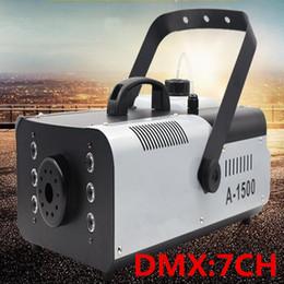 DMX512 1500W RGB 3in1 (6pcs LED) Smoke Machine Remote or Wire Control Stage Fog Machine on Sale