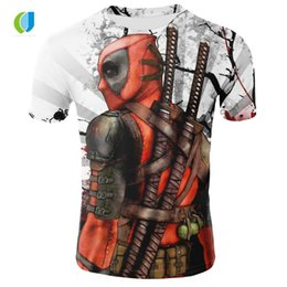 deadpool 3d shirt 2019 - Fashion brand men's T-shirt summer 3D digital printing anime deadpool T-shirt summer cool breathable round neck dis