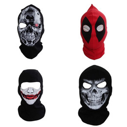 Bicycle Black Ghost Australia - Sweat Absorption Mask Beanies For Outdoor Sports Bicycle Riding Skiing Cap Dust Proof Keep Warm Ghosts Hat Good Quality 17dd dd