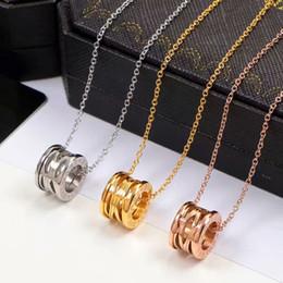 Bulgária nova versão titanium aço oco primavera colar mulheres homens moda prata ouro rose zero1 jóias nunca desaparecer venda por atacado
