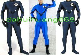 Discount lycra superhero suits - Fantasy Men 4# Body Suit Costumes New 2 Color Lycra Spandex Fantastic Men 4# Suit Catsuit Costumes Fantasy Superhero Cos