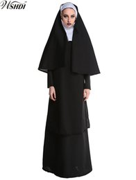 Sexy Nun Halloween Costumes Australia - High Quality New Adult Halloween Party Costumes Sexy Women's Nun Sister Robes Clothes Cosplay Religious Catholic Costume