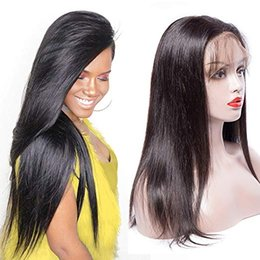 Full brazilian ponytail lace wigs online shopping - 360 Lace Frontal Wig Human Hair Wigs Wig Pre Plucked Lace Wig for High Ponytail Updo Brazilian Virgin Human