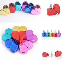 perfume bottle sprayer pump 2019 - 6 colors 25ml Heart Shape Perfume Spray Bottle Atomizer Refillable Screw Neck Pump Sprayer Thick Glass Bottles Box Bags