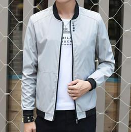 $enCountryForm.capitalKeyWord NZ - 2018 new men's designer jacket men's baseball uniform solid color fashion stand collar jacket casual jacket Slim