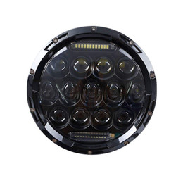$enCountryForm.capitalKeyWord UK - 7 Inch High Low Beam H4 LED Halo Headlights 7inch Auto Round Headlamp With Angel Eye DRL For Jeep Wrangler JK TJ CJ Hummer Defender