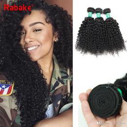 cheap natural kinky weave hair 2019 - Kinky Curly Human Hair Bundles Peruvian Virgin Afro Kinky Human Hair Extensions Rabake Cheap Prices Sew in Natural Black