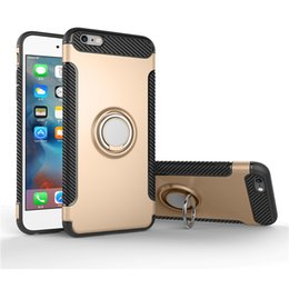 Silicone Phone Holder For Car Canada - case for iphone6 6S plus Carbon Fiber Soft TPU With Magnet Car Holder and Phone Ring Stand Cover Cases for iphone 6 6S