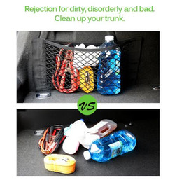 car mesh storage pocket Canada - Car Trunk Box Storage Bag Mesh Net Bag Car Styling Luggage Holder Pocket Sticker Trunk Organizer