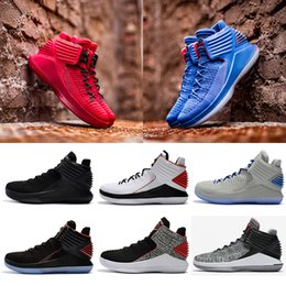 timeless design 26286 ad365 nike air jordan retro shoes 2018 neue 32 XXXII Mens Low Basketball Schuhe  spinnt Vamp North Carolina blau schwarz rot grau Leichtathletik Rabatt  Sneaker ...