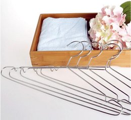 $enCountryForm.capitalKeyWord NZ - 100pcs Stainless Steel 40cm Hangers For Clothes Antiskid Drying Clothes Coat Storage Organizer Rack Adult And Children Hanger free shipping