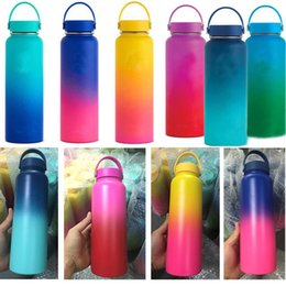 Discount drinking bottles - Vacuum Water Bottles Insulated 304 Stainless Steel Water Bottle Travel Coffee Mug Cup Handle Mouth Flip Cap Cups 18oz 32