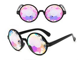 China Sunglasses Retro Round Kaleidoscope Sunglasses Women Brand Designer Kaleidoscope Glasses Cosplay Oculos De Sol sunglasses girls suppliers