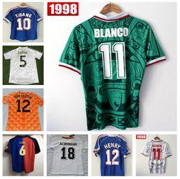 63055d09ce3 France 1998 World Cup Retro Soccer Jerseys Mexico 1998 Shirts Netherland  Germany 1990 Argentina Brazil Retro Jersey Beckham zidane HENRY