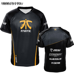 Dota2 Csgo Lol Champion Fn Game Team Fnatic Jersey T Shirt O Neck Casual Tees Gioco Atletica Uomini Donne Fnatic T -Shirt