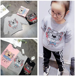 Kids Clothing Baby Sweaters 2018 Autumn Newest Fashion Children Cotton Woolen Sweaters Exquisite Tiger Head Embroidery For Kids Sweatershirt