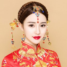 Ethnic Hair Jewelry for Wedding Bridal Headdress Chinese Style Tassel Headpiece Step Shakes Women Costume Dangle Frontlet Bijoux  sc 1 st  DHgate.com & Shop Chinese Headdress Costume UK | Chinese Headdress Costume free ...