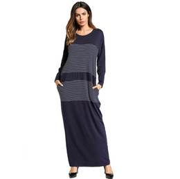 b53b6b812b Women Maxi Dress Winter Abaya Warm Knitted Cotton Thickening Long Robe  Gowns Muslim Middle East Arab Islamic Clothing Plus Size 4XL