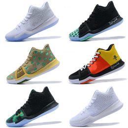 brand new 9134b f2a74 2018 Kyrie duke pe Basketball Shoes Mens Samurai Kyrie Black 3 Sports  Training Sneakers size 7-12