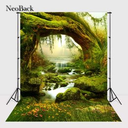 fairy photo background 2019 - NeoBack Spring Forest Creek Scene Fairy Tale Nature Photography Backgrounds New Born Baby Props Children Photo Backdrops
