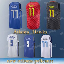 Hawks sale online shopping - Atlanta Hawks Trae Young Luka Doncic Mohamed Bamba High quality Free shopping Hot sale new Jersey sportswear