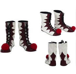 $enCountryForm.capitalKeyWord UK - Stephen Kings It Shoes Pennywise Clown Joker Cosplay Boots Halloween Costume
