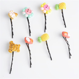 Girl hair accessories cherry online shopping - New Cute Girl Fruit Hair Clip Pineapple Cherry Hairpins Hair Accessories