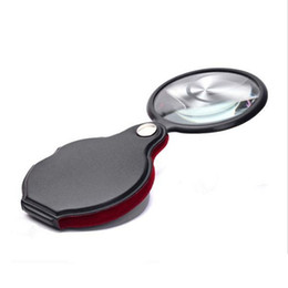 Wholesale Mini Pocket X mm Folding Jewelry Magnifier Magnifying Eye Loupe Glass Lens Foldable Jewelry Loop Jewelry Loupes b891