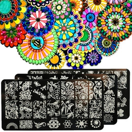 $enCountryForm.capitalKeyWord NZ - Fashion Flower Butterfly Nail Art Stamp Template Image Plate Manicure Accessory