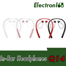wireless apple headphones Canada - Q14 Wireless Bluetooth headset Neck Mounted Sports Earphones For Apple iPhone Android Smart Phones Headband Headphones With Retail Packing