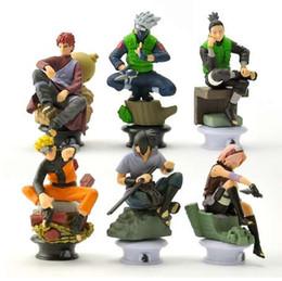 Discount sasuke figures - 6pcs lot 9.5cm Naruto Chess Action Figures Toys New Sasuke Naruto Shippuden Uzumaki Hinata Madara Kakashi Model Toy