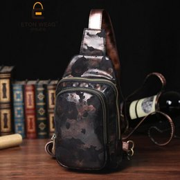 $enCountryForm.capitalKeyWord NZ - Factory wholesale brand personality ink painting man male package chest pack Retro Leather Shoulder Bag for outdoor travel bag leather mens