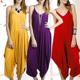Harem Jumpsuits Women Australia - Women Summer Fashion Solid Color Harem Overall Romper Loose Casual Jumpsuit smt 87