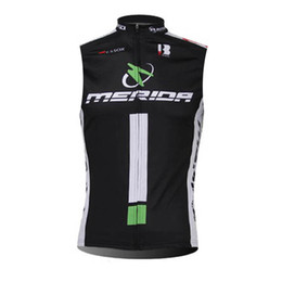 men s sleeveless cycling jersey UK - MERIDA team Cycling Sleeveless jersey Vest New Summer Sports Clothing Bicycle Breathable Quick-Dry shirts Mans U62618