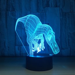 $enCountryForm.capitalKeyWord NZ - 2018 Tyrannosaurus Rex 3D Optical Illusion Lamp Night Light DC 5V USB Charging 5th Battery Wholesale Dropshipping Free Shipping