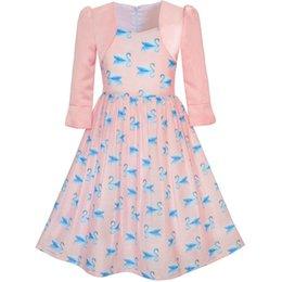 Sunny fashion girls dress 2-em-1 bolero elegante cisne party dress 2017 verão princesa vestidos de casamento crianças roupas tamanho 4-10