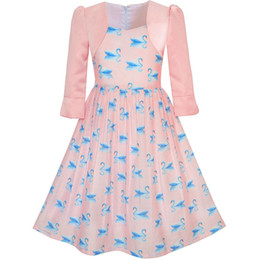 631d601612bc5 Sunny Fashion Girls Dress 2-in-1 Bolero Elegant Swan Party Dress 2017  Summer Princess Wedding Dresses Children Clothes Size 4-10