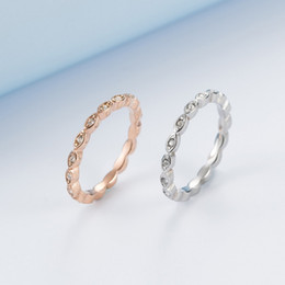 rose gold bague NZ - Korean Style Rose Gold Color Elegant Full Zircon Female Ring Simple Trendy Tiny Finger Rings for Women Party Jewelry bague femme