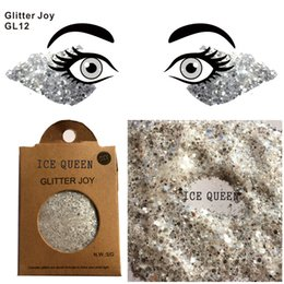 party queen make up Canada - GL12 Ice Queen Cosplay Festival Face& Body Glitter Party Make Up Cosmetic Glitters Body Carnival Decor