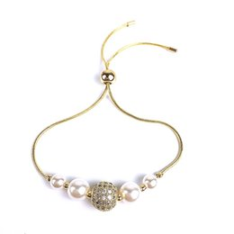 Gifts For Pearl Anniversary NZ - European New Fashion Pearl Bracelet for Women Jewelry Italian Wedding Anniversary Exquisite Gift Jewelry Accessories